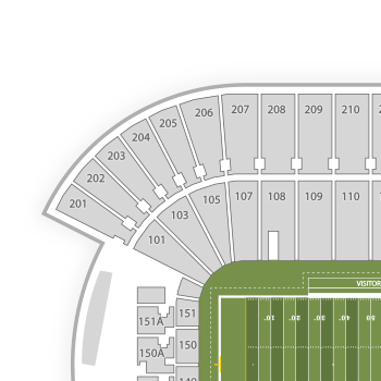 Tcf bank stadium seating chart map seatgeek