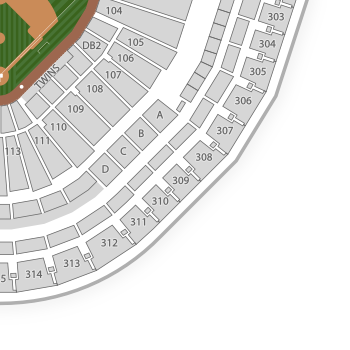Minnesota twins seating chart map seatgeek