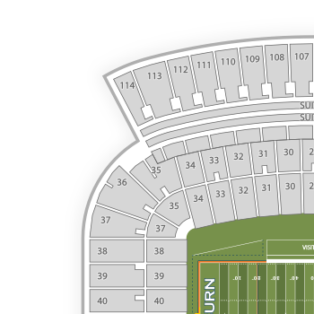 Auburn tigers football seating chart interactive map seatgeek