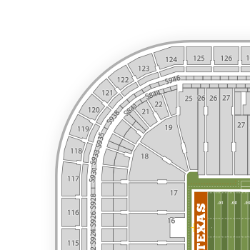 Darrell k royal texas memorial stadium jamail field seating chart