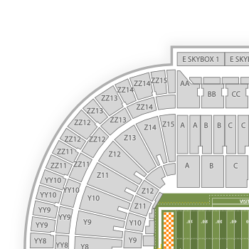 Tennessee volunteers football seating chart seating chart seatgeek