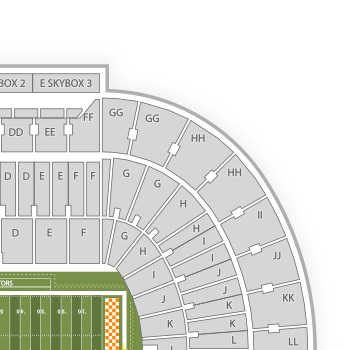 tennessee interactive seating chart: Tennessee vs florida tickets sep 22 in knoxville seatgeek