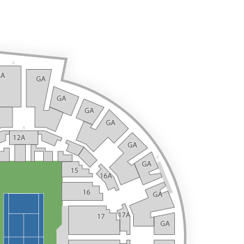 Grandstand At The Billy Jean King Tennis Center Seating Chart - Us open tennis center map
