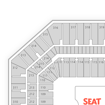 Carrier dome seating chart concert map seatgeek