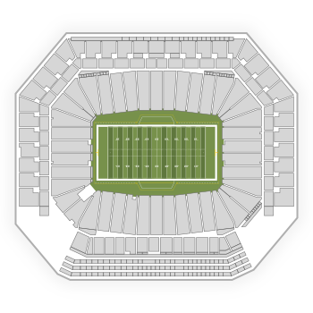 Detroit Lions Seating Chart Map Seatgeek