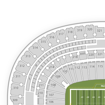 Georgia Dome Seating Chart & Interactive Seat Map