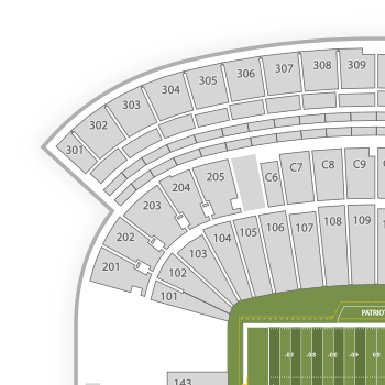 New england patriots seating chart interactive map seatgeek