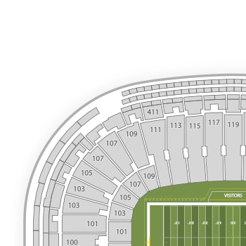 Green bay packers seating chart map seatgeek