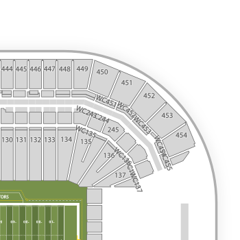 Arizona Cardinals Seating Chart Interactive Map SeatGeek - Cardinals points map us