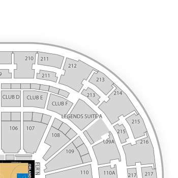 tennessee interactive seating chart: Amway center seating chart interactive seat map seatgeek